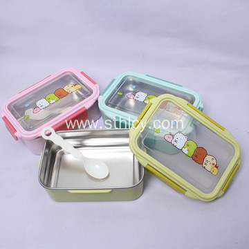 Double-layer Female Student Round Sealed Lunch Box