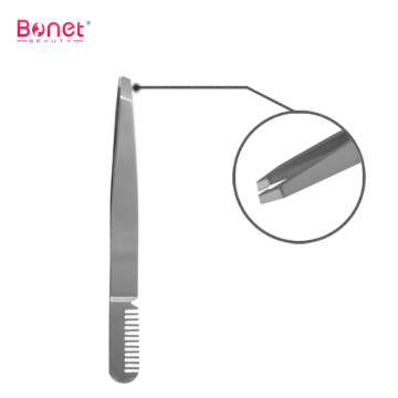 Stainless Steel 100mm comfortable comb Eyebrow tweezer