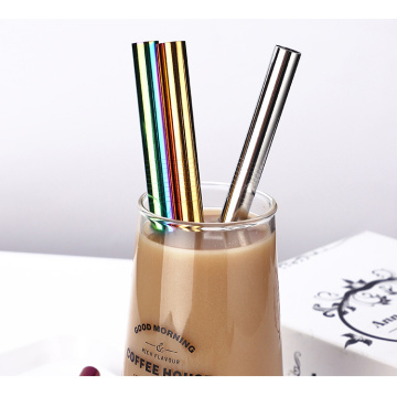 Stainless steel 12mm Bubble Tea Drinking Straw