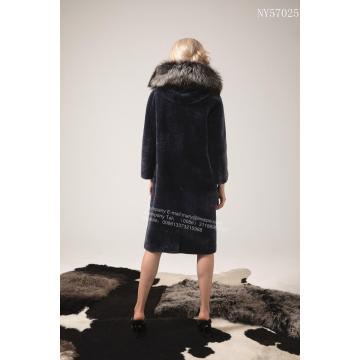 Women Australia Merino Shearling Long Coat