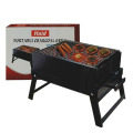 Folded charcoal grill oven