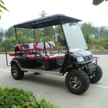 6 seats 4x4 hunting golf carts with gas or battery power