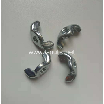 M8 White Zinc plated Wing nuts