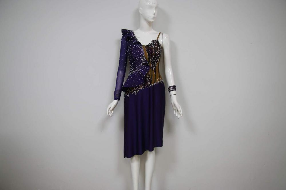 Purple Latin Dresses Uk