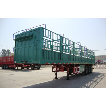 Container Carrying Flat Bed Semi Trailer Truck