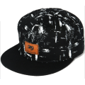 Metal Brand Leather Applique Printing Hip Hop Cap