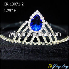 Blue Rhinestone Bridal Wedding Tiaras Pageant Crown
