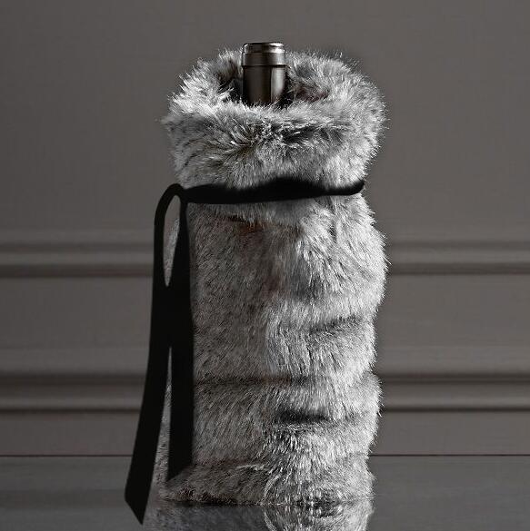 Nordic Style Plush Wine Bottle Cover Bag