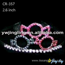 China Supplier for Snowflake Round Crowns Custom Rhinestone Sweety Candy Pageant Tiaras supply to Wallis And Futuna Islands Factory