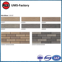 Small format exterior tiles