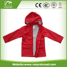 High Quality Kid' s PU Raincoat