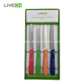 Colored Handle Tomato Knife 4 Pieces Set