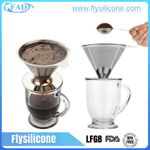 Pour over 304 stainless steel coffee dripper