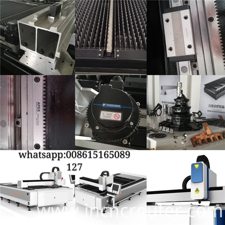 copper 1kw laser metal cutting machine