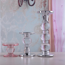 Set of 4 Candlestick Holder Taper and Pillar Candle Holder
