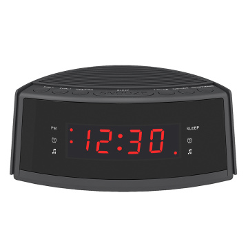 Vendita calda Dual-Alarm Snooze Display a LED di grandi dimensioni con radio digitale Radiosveglia con radio FM