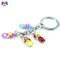 Souvenir metal shoe shape custom slipper keychain