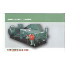 Single cylinder reciprocating high pressure pump