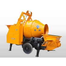Electric and diesel trailer concrete mixer pump