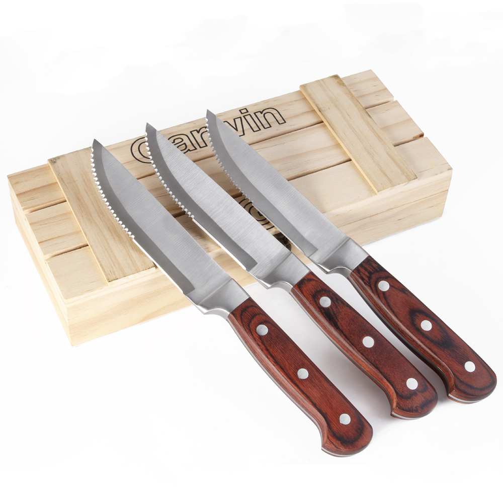 Brown Handle Steak Knives