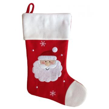 Reasonable price for Christmas Stocking Holders Classic red  plush christmas stockings gift supply to Spain Manufacturers