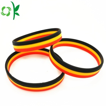 Beautiful Design Press Layer Printed Logo Silicone Bands