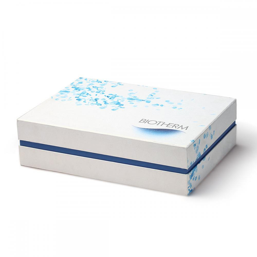 luxury Handle Cosmetic Box With White Sponge