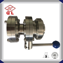 Sanitary Three Pieces Butterfly Valve Welded Ends