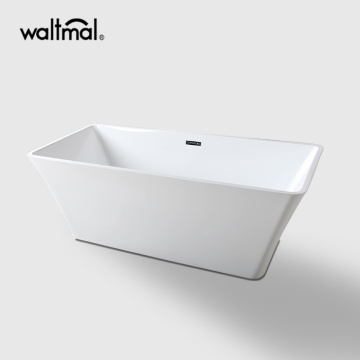 Modern Bathroom Square Freestanding Bathtub Acrylic