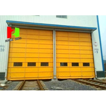 Industrial Aluminum Interior Windproof Stacking Door