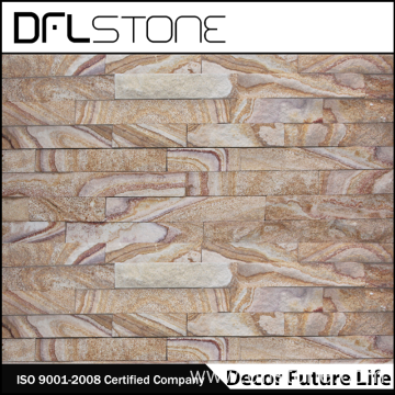 Wooden Color Sandstone Splitface Stone Panel