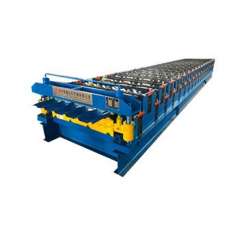 Double plate colored steel roll forming machine