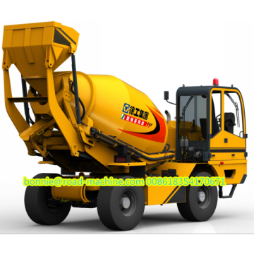 4 cubic meters self loading concrete mixer truck