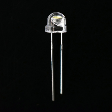 5mm White LED Straw Hat Cool White 8000-11000K