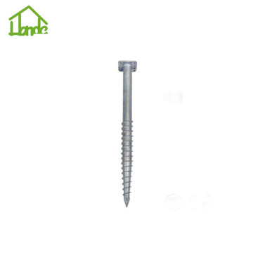 Heavy duty hot galvanized screw pile