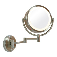 Wall mounted fogless lighted wall mirror
