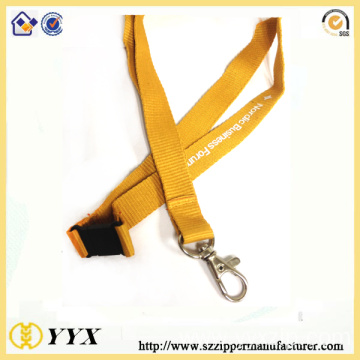 Ployester silk-screen logo lanyard with safety breakaway