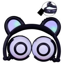 Färgglada Flash Panda Ear Earphone Headphones