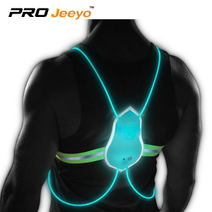 led safety running belt vest