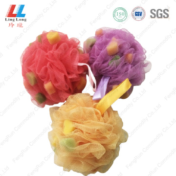 Saucy mesh sponge bath ball