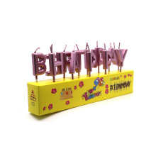 Lilin Bersama Metallic Birthday Party Individual Lilin Surat