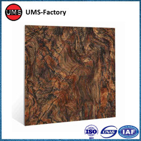 Black marble look ceramic vitrified tile