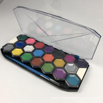 Best 20 color face paint palette with sponges