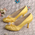 Elegant Closed Toe Bridesmaid Shoes Gold