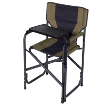 600D polyester seat Camp Chair with swivel table