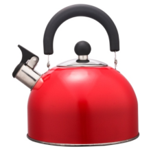 3.5L Stainless Steel color painting Teakettle red color