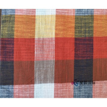 Colorful Plaid Cotton Blend Bamboo Fiber Shirt Fabric