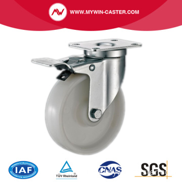 85mm Swivel Industrial PP Caster With Brake