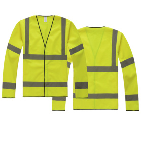 Safety vest with sleeves