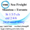 Shantou Sea Freight to Toronto